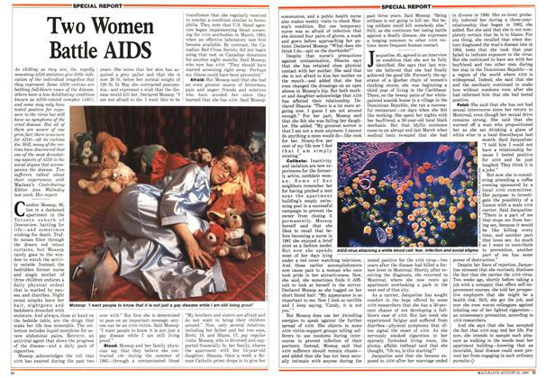 Article Preview: Two Women Battle AIDS, August 1987 | Maclean's