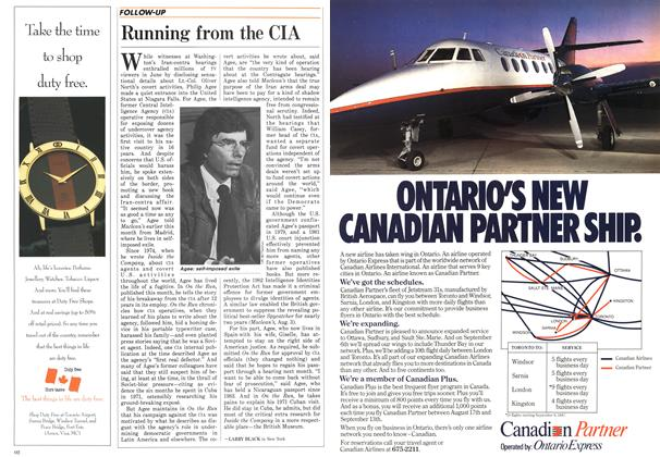 Article Preview: Running from the CIA, August 1987 | Maclean's