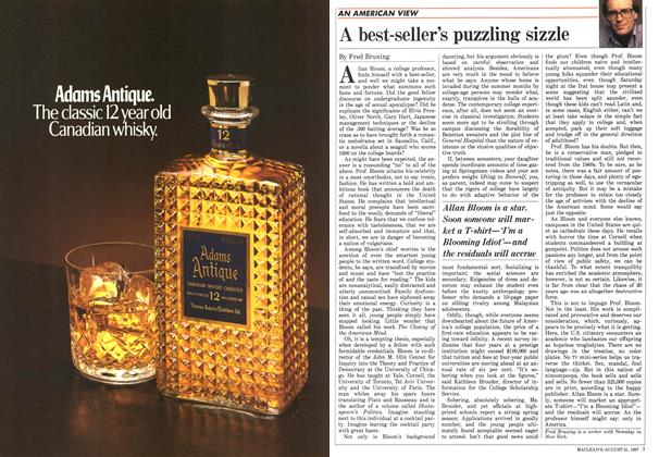 Article Preview: A best-seller's puzzling sizzle, August 1987 | Maclean's