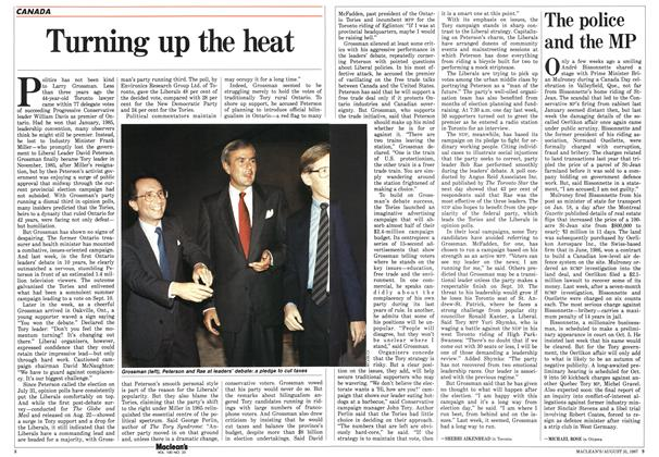Article Preview: Turning up the heat, August 1987 | Maclean's