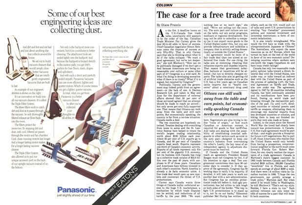 Article Preview: The case for a free trade accord, September 1987 | Maclean's