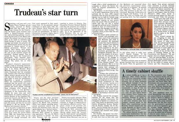 Article Preview: Trudeau's star turn, September 1987 | Maclean's
