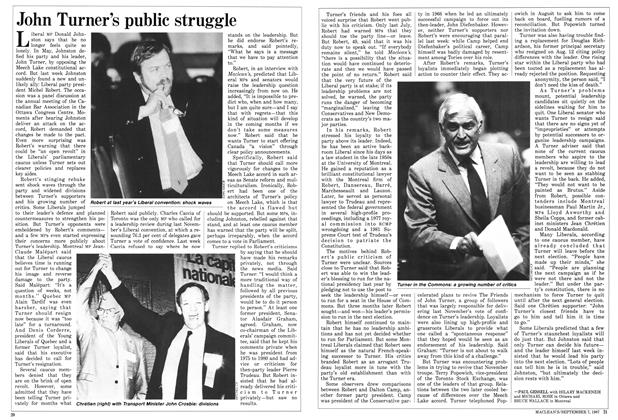 Article Preview: John Turner's public struggle, September 1987 | Maclean's