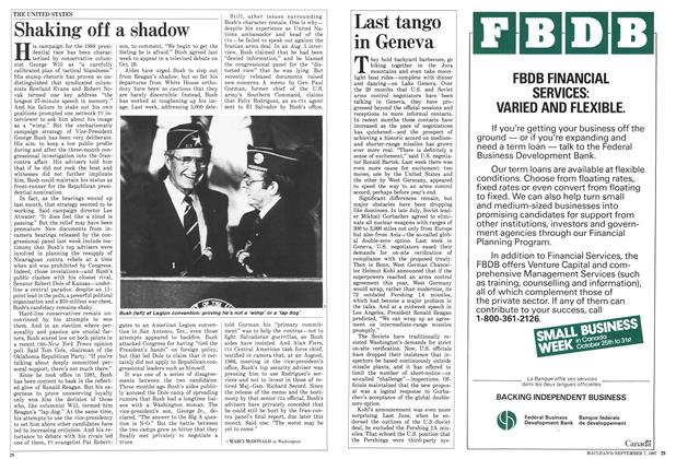 Article Preview: Shaking off a shadow, September 1987 | Maclean's