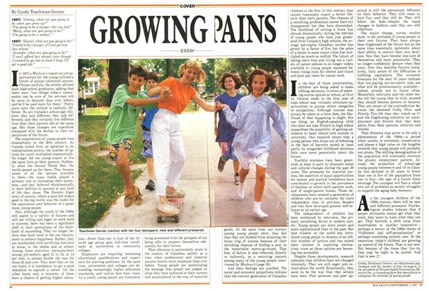Article Preview: GROWING PAINS, September 1987 | Maclean's