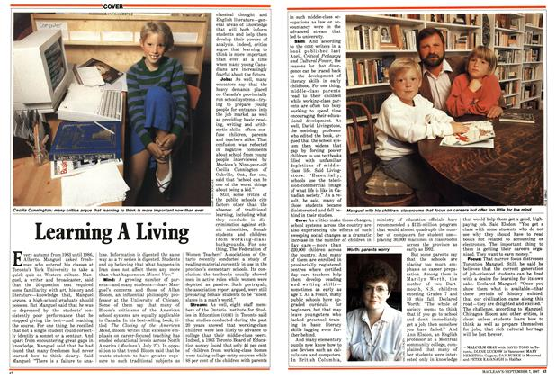 Article Preview: Learning A Living, September 1987 | Maclean's