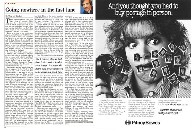 Article Preview: Going nowhere in the fast lane, September 1987 | Maclean's