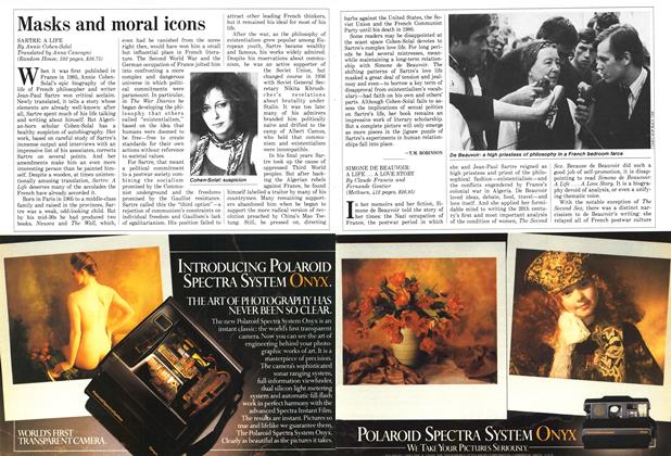 Article Preview: Masks and moral icons, September 1987 | Maclean's