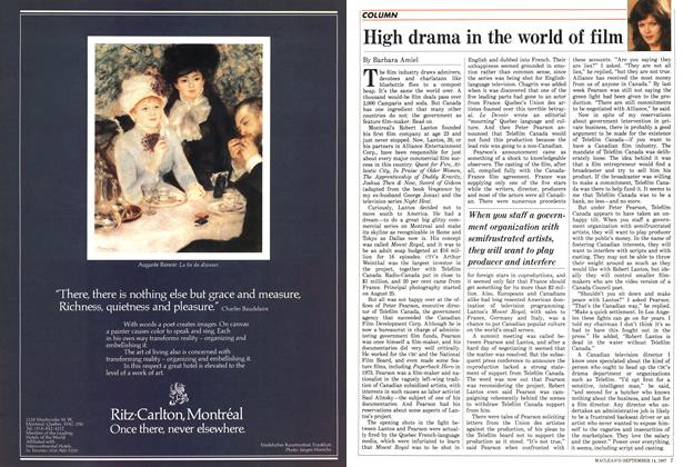Article Preview: High drama in the world of fílm, SEPTEMBER 14,1987 1987 | Maclean's