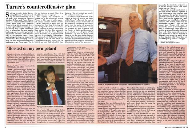 Article Preview: Turner's counteroffensive plan, SEPTEMBER 14,1987 1987 | Maclean's