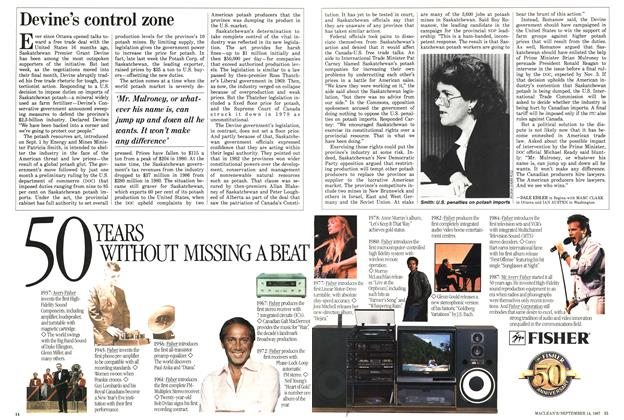Article Preview: Devine s control zone, SEPTEMBER 14,1987 1987 | Maclean's