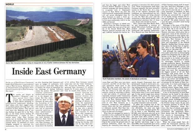 Article Preview: Inside East Germany, SEPTEMBER 14,1987 1987 | Maclean's