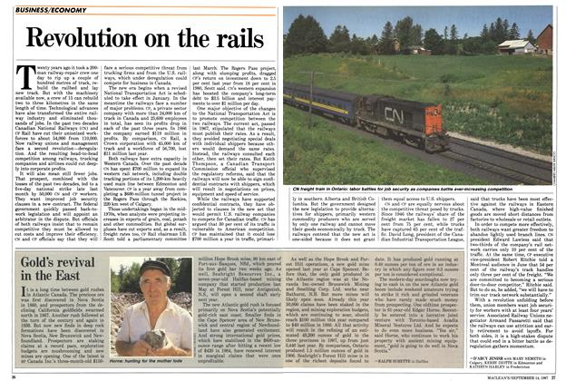 Article Preview: Revolution on the rails, SEPTEMBER 14,1987 1987 | Maclean's