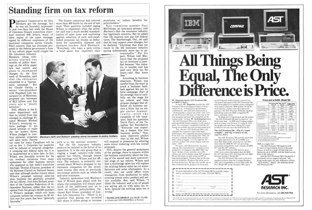 Article Preview: Standing firm on tax reform, SEPTEMBER 14,1987 1987 | Maclean's