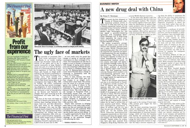 Article Preview: A new drug deal with China, SEPTEMBER 14,1987 1987 | Maclean's