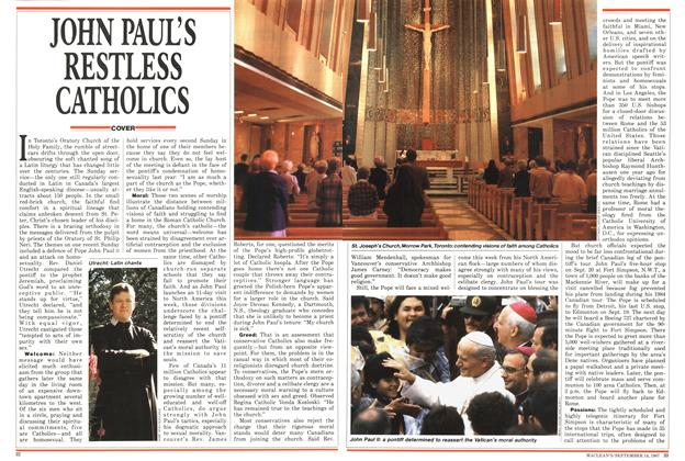 Article Preview: JOHN PAUL'S RESTLESS CATHOLICS, SEPTEMBER 14,1987 1987 | Maclean's