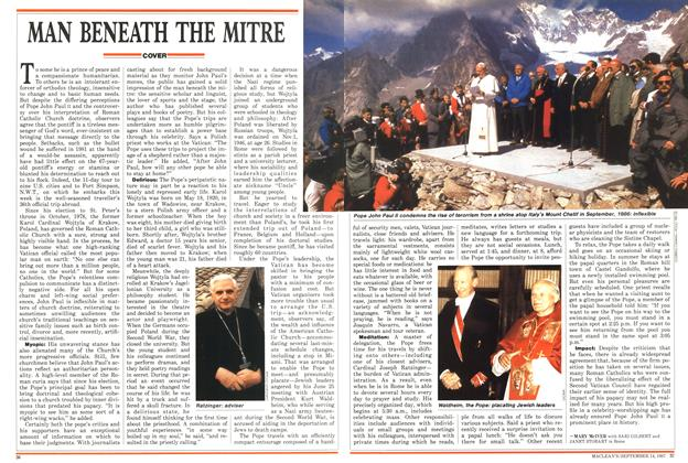 Article Preview: MAN BENEATH THE MITRE, SEPTEMBER 14,1987 1987 | Maclean's
