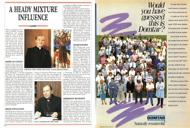 Article Preview: A HEADY MIXTURE INFLUENCE, SEPTEMBER 14,1987 1987 | Maclean's