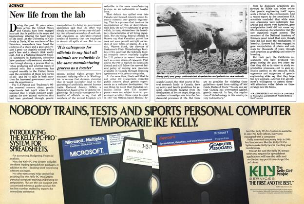 Article Preview: New life from the lab, SEPTEMBER 14,1987 1987 | Maclean's