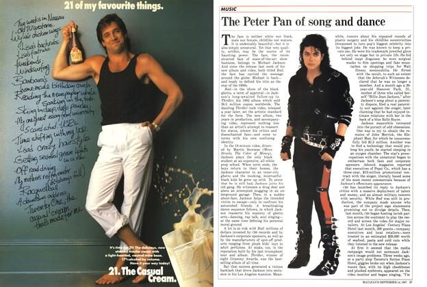 Article Preview: The Peter Pan of song and dance, SEPTEMBER 14,1987 1987 | Maclean's