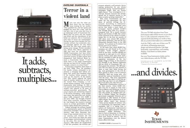 Article Preview: Terror in a violent land, September 1987 | Maclean's