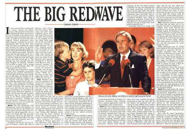 Article Preview: THE BIG REDWAVE, September 1987 | Maclean's