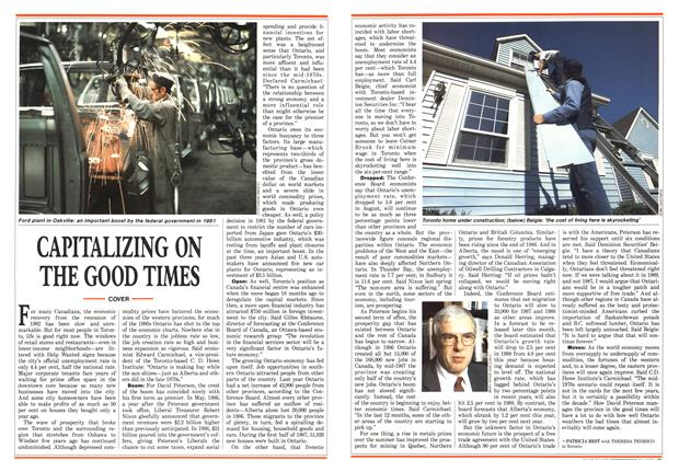 Article Preview: CAPITALIZING ON THE GOOD TIMES, September 1987   Maclean's