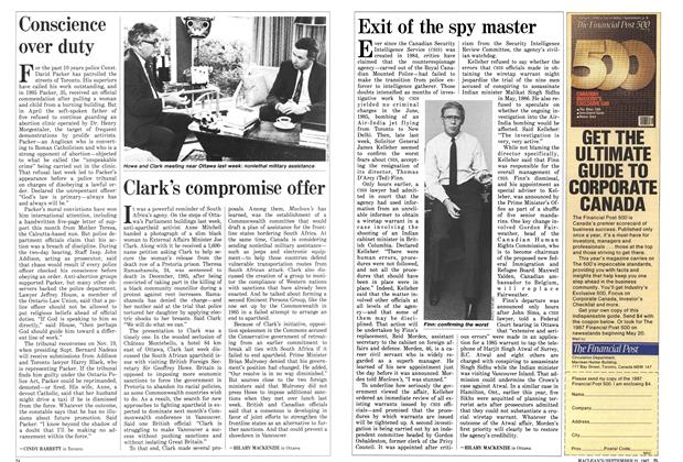 Article Preview: Clark's compromise offer, September 1987 | Maclean's