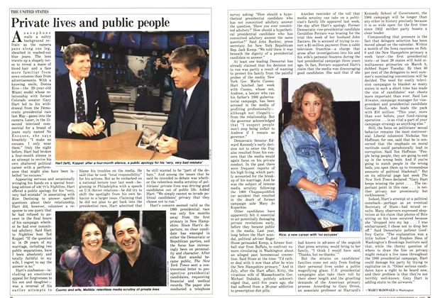Article Preview: Private lives and public people, September 1987   Maclean's