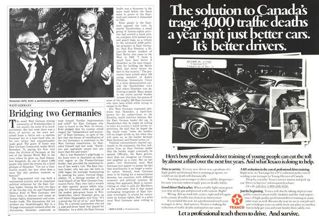 Article Preview: Bridging two Germanies, September 1987 | Maclean's