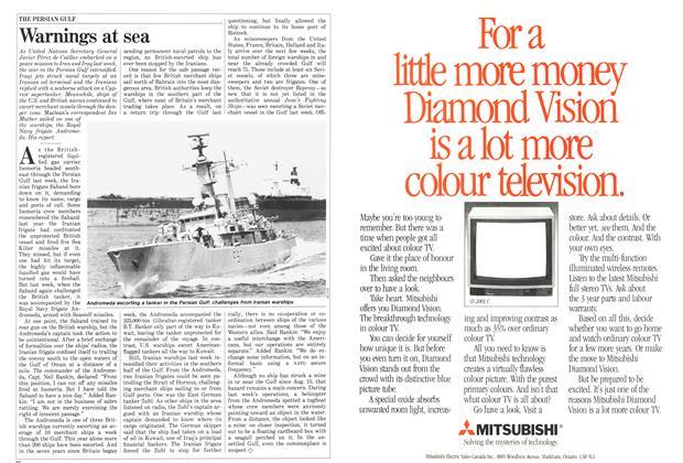 Article Preview: Warnings at sea, September 1987   Maclean's