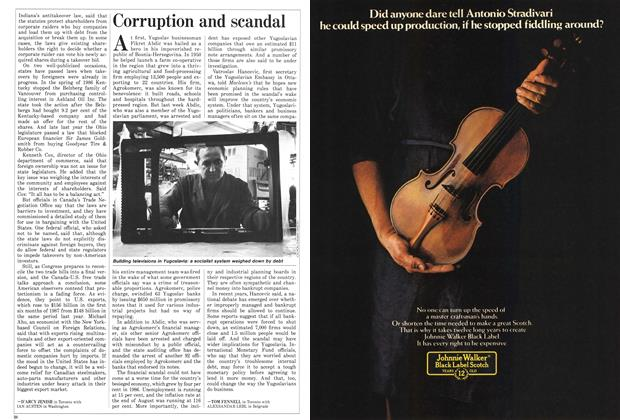 Article Preview: Corruption and scandal, September 1987 | Maclean's