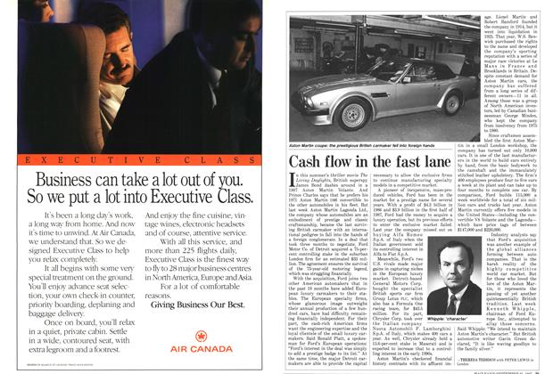 Article Preview: Cash flow in the fast lane, September 1987 | Maclean's