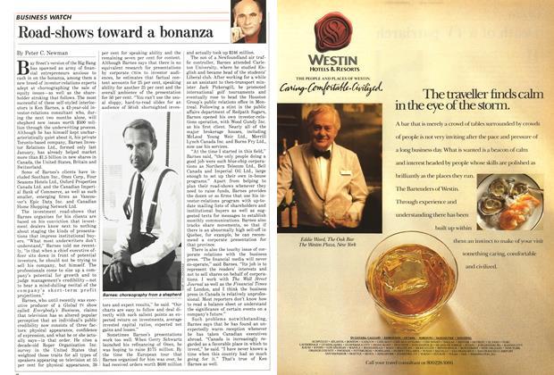Article Preview: Road-shows toward a bonanza, September 1987 | Maclean's