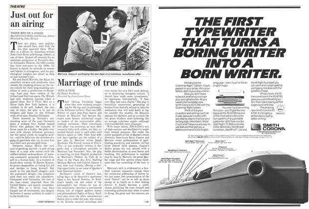 Article Preview: Just out for an airing, September 1987 | Maclean's