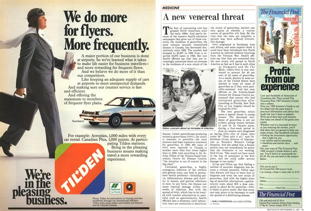 Article Preview: A new venereal threat, September 1987 | Maclean's