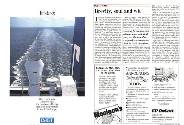 Article Preview: Brevity, soul and wit, September 1987   Maclean's