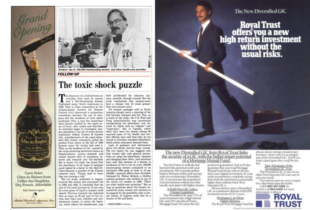 Article Preview: The toxic shock puzzle, September 1987 | Maclean's