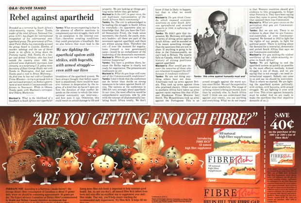 Article Preview: Rebel against apartheid, September 1987 | Maclean's