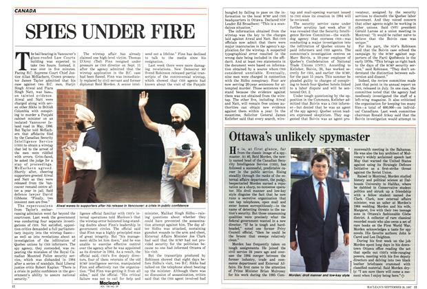 Article Preview: SPIES UNDER FIRE, September 1987 | Maclean's