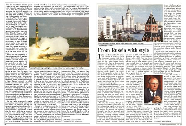 Article Preview: From Russia with style, September 1987 | Maclean's