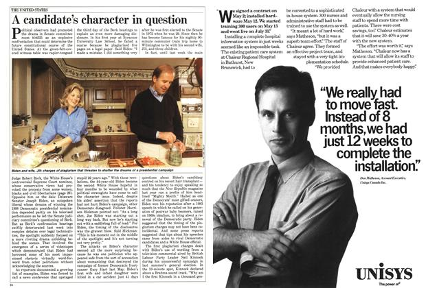 Article Preview: A candidate's character in question, September 1987 | Maclean's