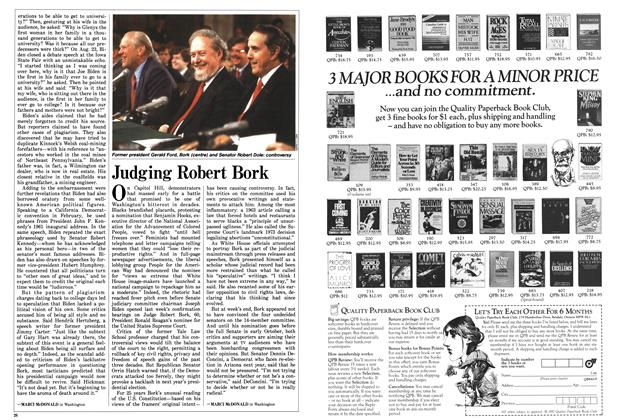 Article Preview: Judging Robert Bork, September 1987 | Maclean's
