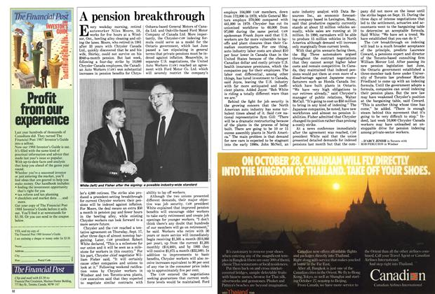 Article Preview: A pension breakthrough, September 1987 | Maclean's