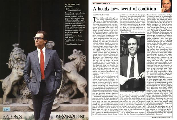 Article Preview: A heady new scent of coalition, September 1987 | Maclean's