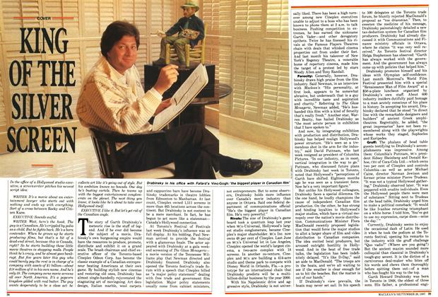 Article Preview: KING OF THE SILVER SCREEN, September 1987 | Maclean's