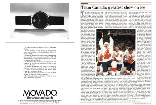 Article Preview: Team Canada: greatest show on ice, September 1987 | Maclean's