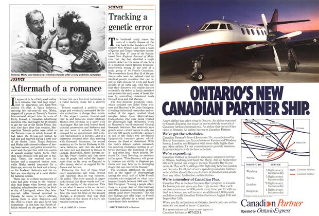 Article Preview: Tracking a genetic error, September 1987 | Maclean's