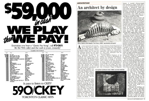 Article Preview: An architect by design, September 1987 | Maclean's