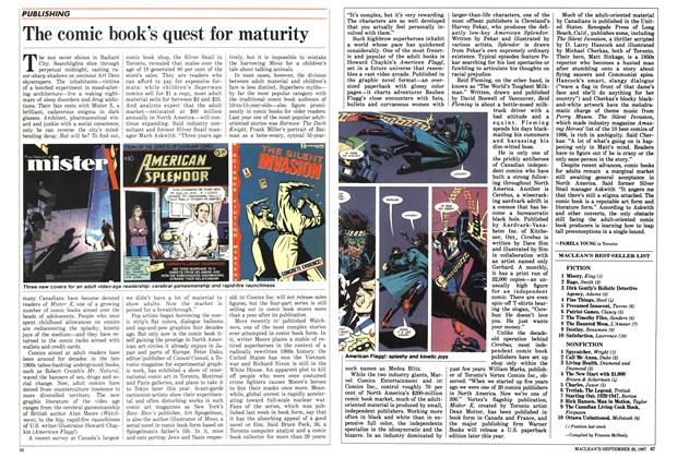 Article Preview: The comic book's quest for maturity, September 1987 | Maclean's